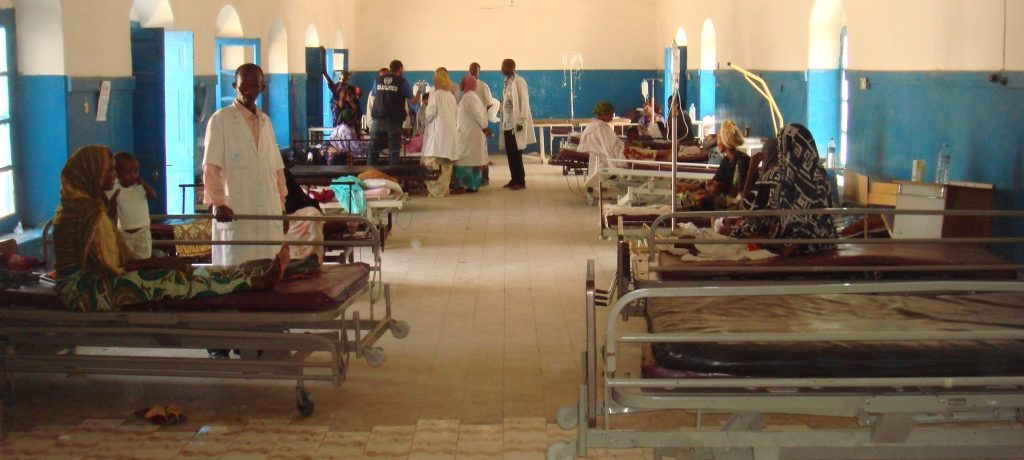 Hospital in conflict area